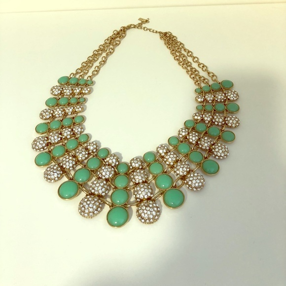 BaubleBar Jewelry - BaubleBar Mint and Crystal Statement Necklace